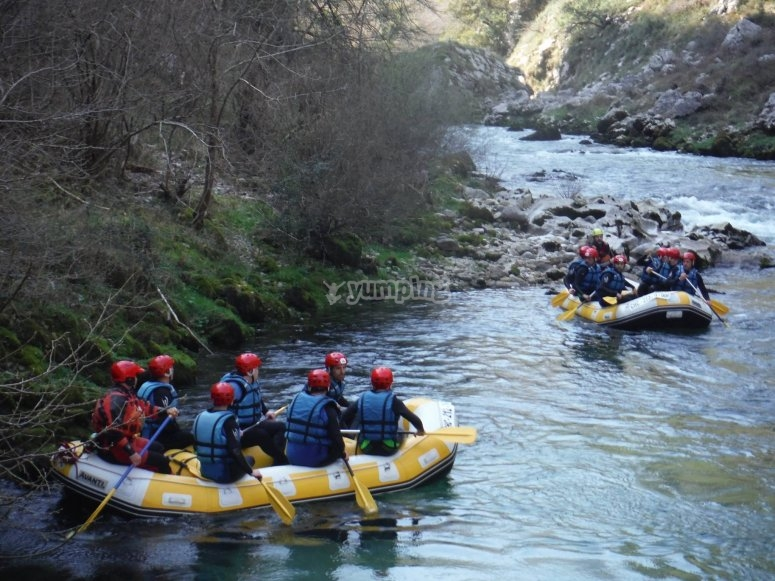 Rafting in Cantabria
