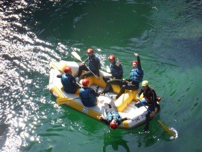 Rafting con picnic y fotos en el Alto Ebro 18 km