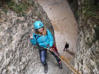 Rappelling the wall in Huesca