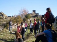 Hikers walking through Huesca