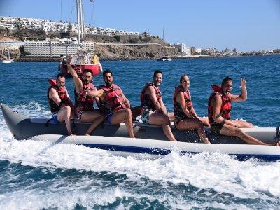 香蕉船在Anfi del Mar 10分钟
