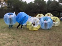 Bubble football match in Barcelona & appetizer