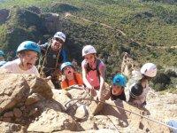 Ferrata with the kids in Guara