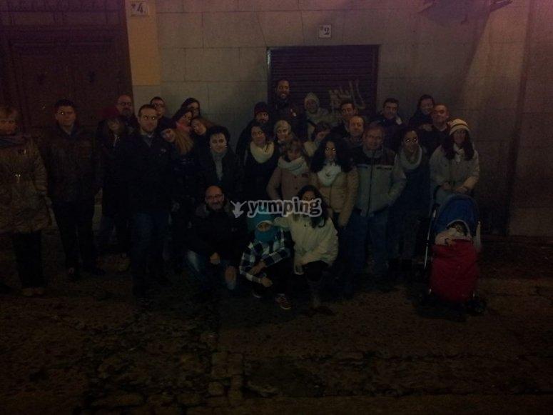 Grupo visitando Toledo