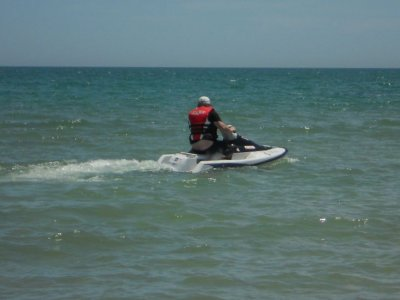 Two-seater jet ski route in Sanxenxo (40 minutes)