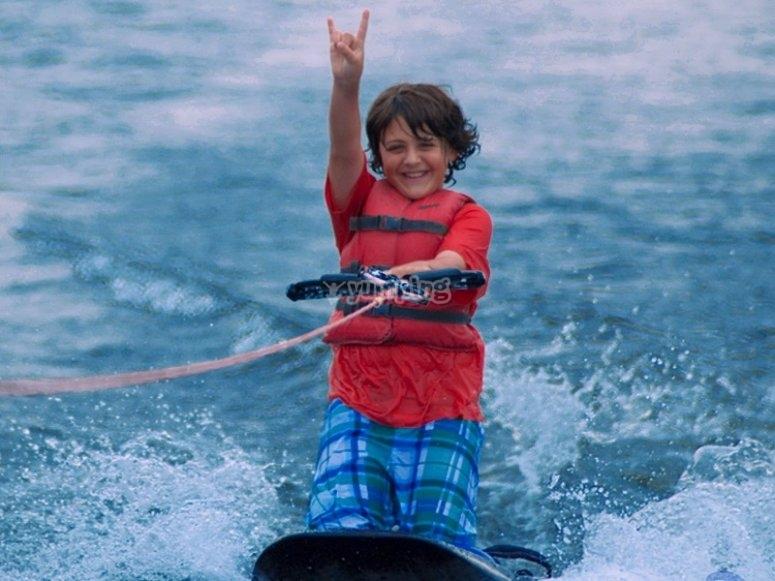 Una bonita sesion de wakeboard
