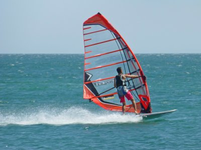 try windsurfing in Anfi del Mar, 1 hr