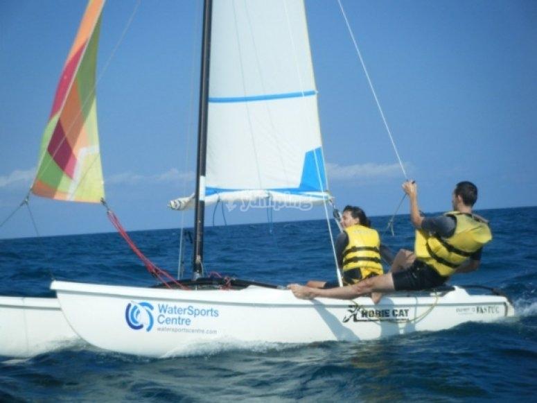 Aprende a llevar el catamaran