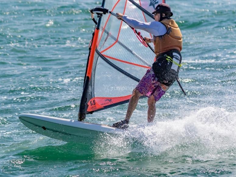 Sesión de windsurf