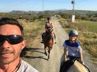 Horse riding through the Sierra de las Nieves Natural Park