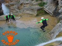 Jump in canyoning