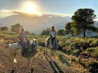 Atardeceres malagueños montando a caballo