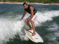 Wake surfing on San juan reservoir & soda 2hrs