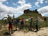 Bicycle route to historical remains in the Pyrenees