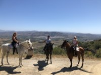 Receiving directions on the route through the Sierra de las Nieves