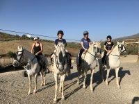 Riding class in the Cortijo El Chenil