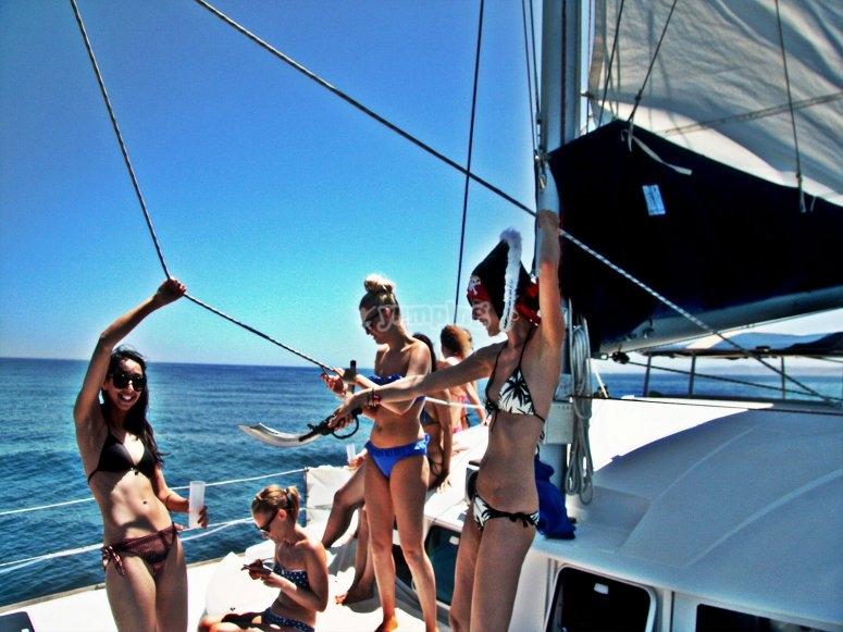 Paseo en barco para grupos Málaga