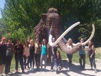 Visitantes en la ruta del mamut