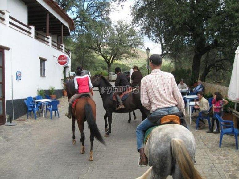 马背上的短途旅行