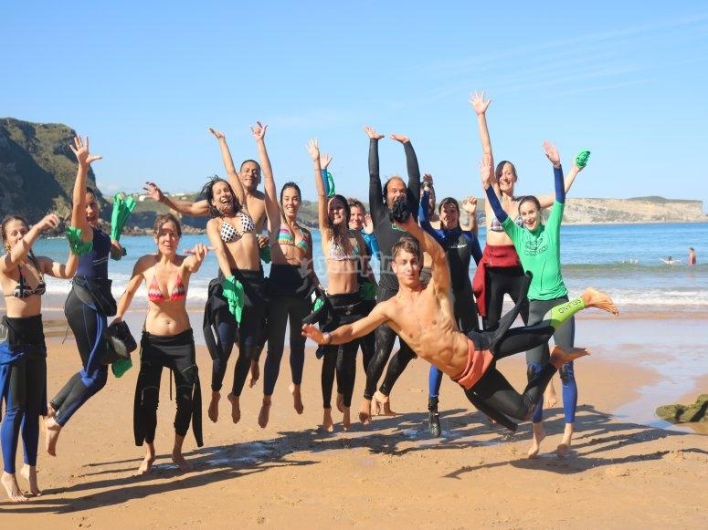 Surfing en Suances