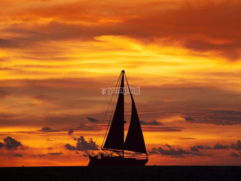 Despedida en velero