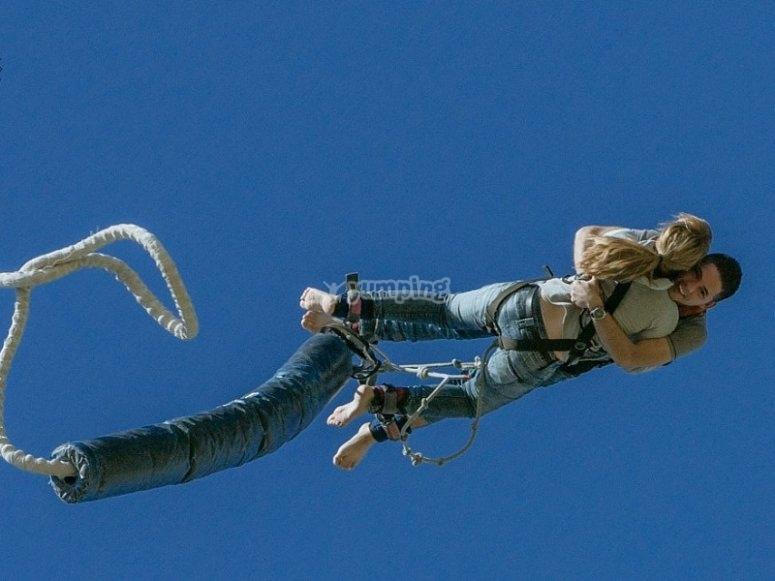 Tandem bungee jump in Barcelona