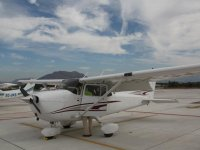 Light aircraft in the airport