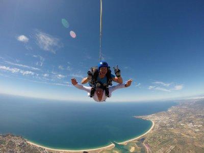 Salto in paracadute in tandem in Algarve