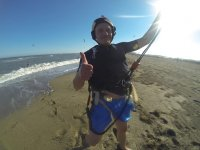 Deseando hacer kitesurf