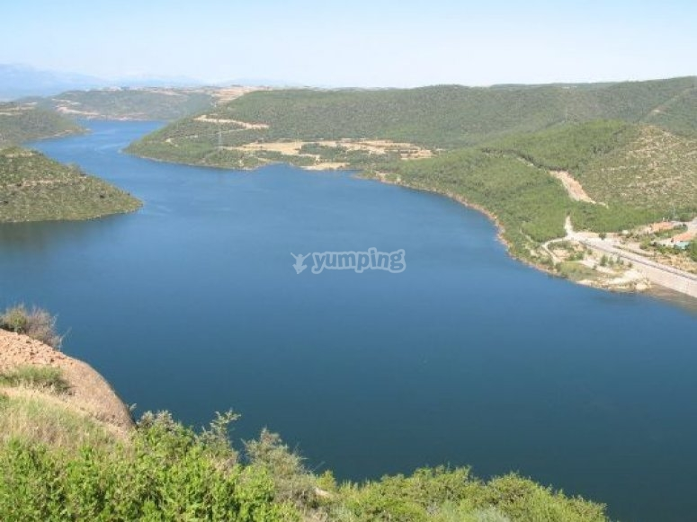 Air view of the reservoir