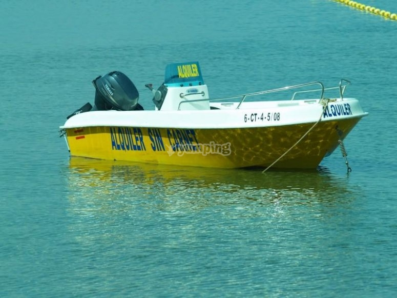 Our hired boat