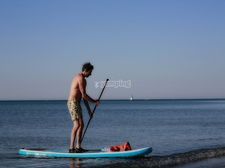 Paddle surfing is the trending sport