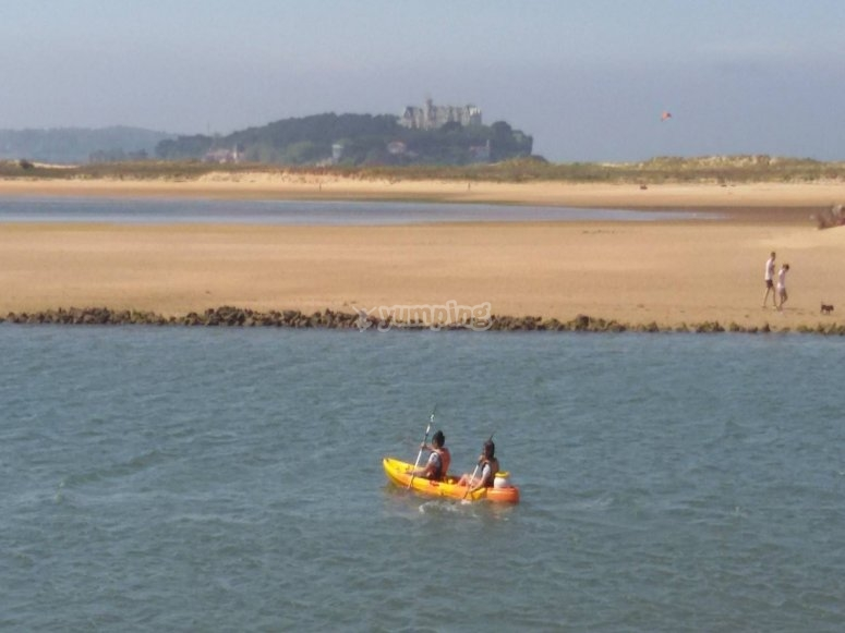 Kayak rental in Santander bay