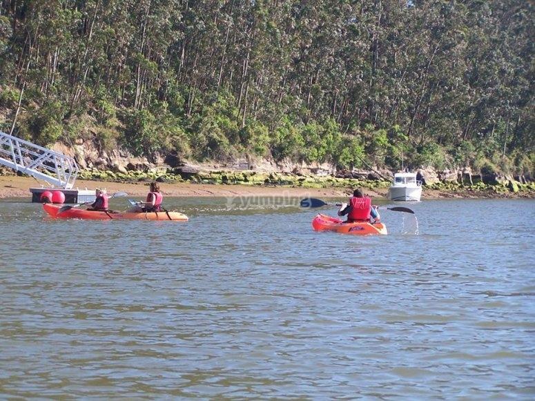 Alquiler de kayak bahia de Santander