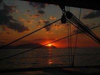 anochecer desde barcos