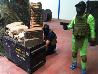 Children's indoor paintball, unlimited ammo Madrid