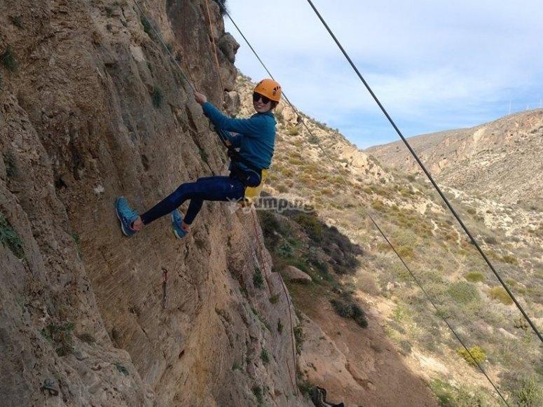 Disfrutando escalando