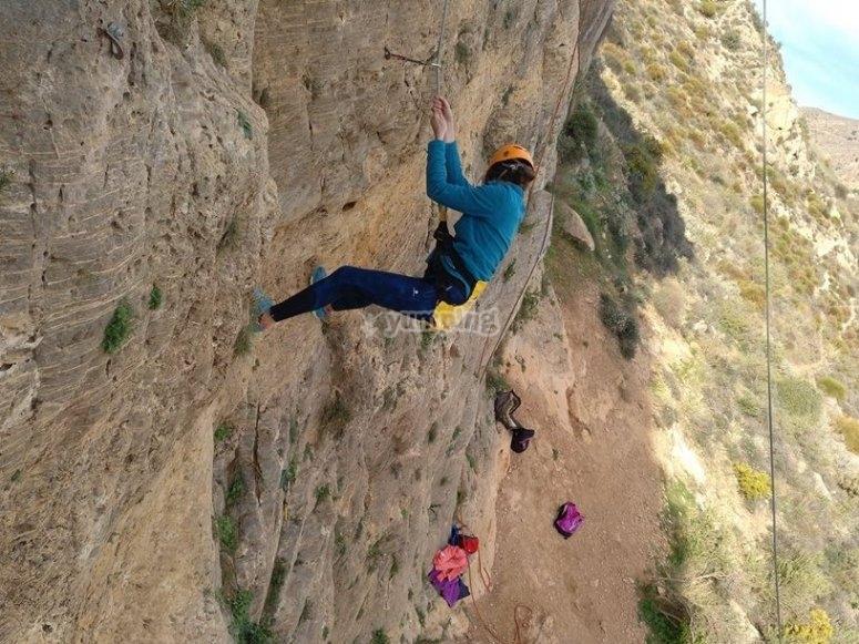 Tecnica de escalada para principiantes