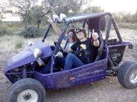 Saludando desde el buggy