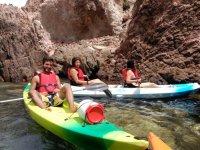 en los kayaks.