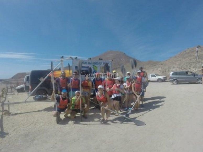 grupo preparados para la ruta