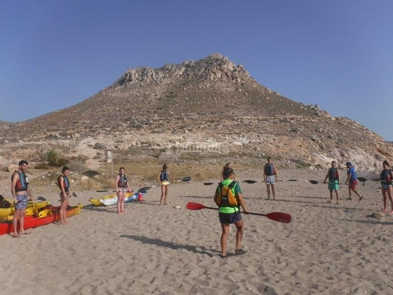 Playa la Fabriquilla visita en kayak