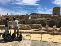 Visitando ruinas en segway