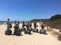 En la playa del Tamarit con los segway