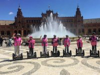 On segway through Seville