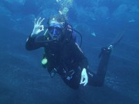 First diving dives in La Palma