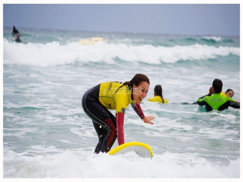 Iniciate en el surf