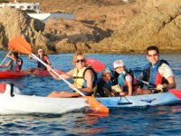 Kayak familiar en Cabo de Gata Niños