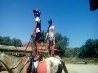 Equilibrio base de la monta en Huesca