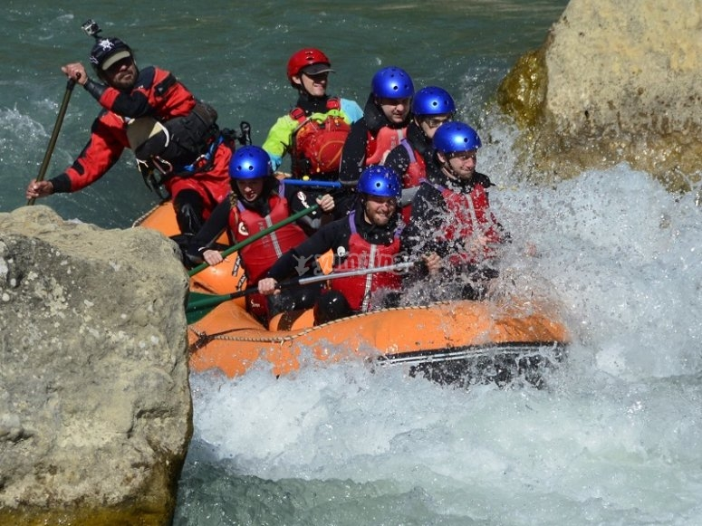 Rafting in rough waters Gallego river
